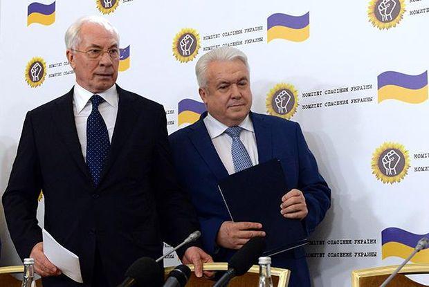 Микола Азаров та Володимир Олійник