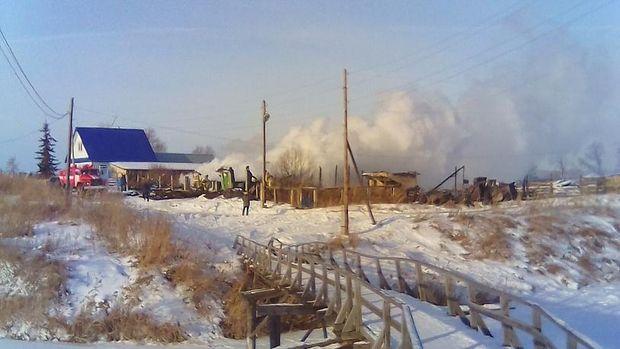 Пожежа у будинку Єльцина