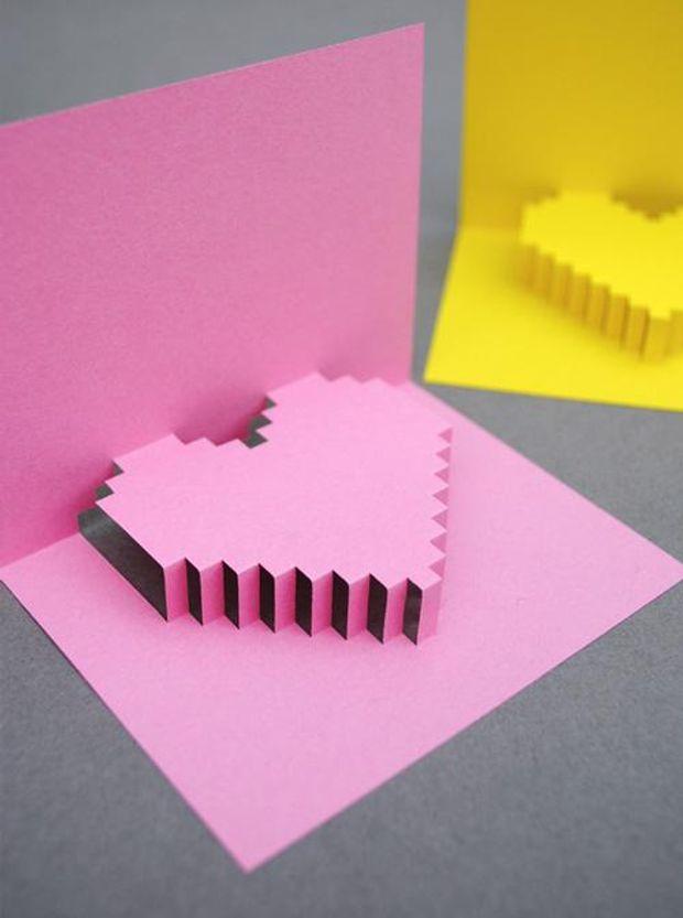 Валентинка в стилі піксель-арт своїми руками