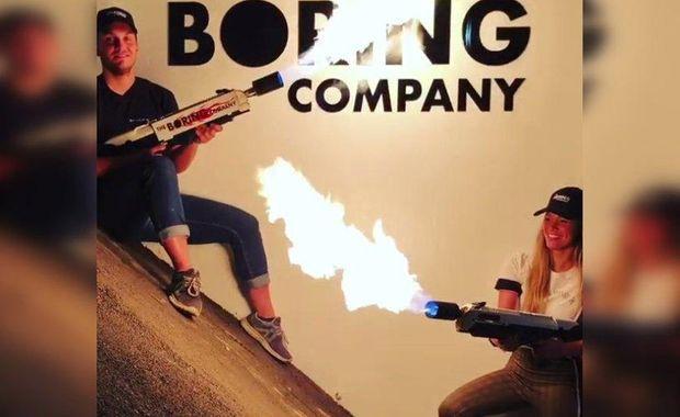 Ручной огнемет Илона Маска