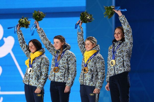 Олімпіада Сочі біатлон естафета золото