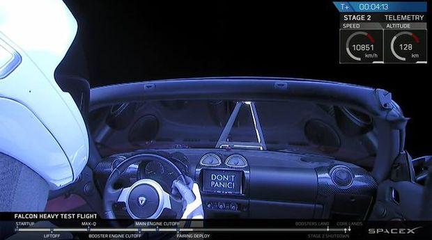 Машина Tesla в космосе благодаря ракете Илона Маска