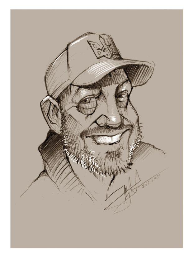 Портрет Краснопольського, який створив Юрій Журавель