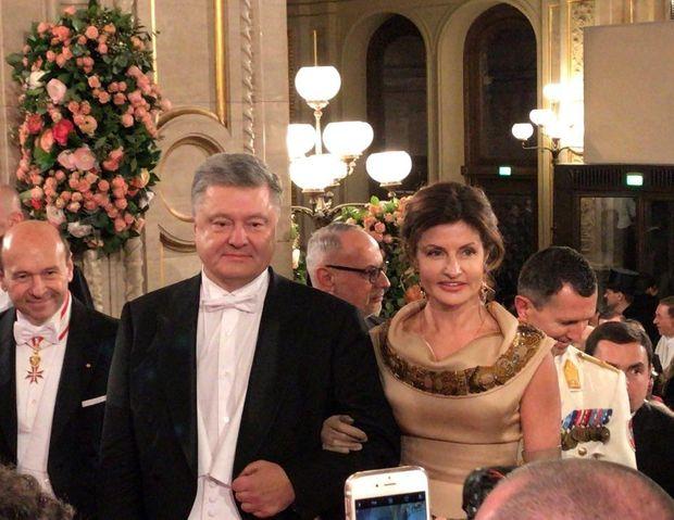 Порошенки на Віденському балу