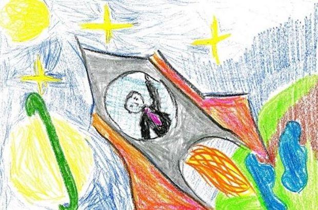 Путін, Росія, діти, курйоз, малюнки