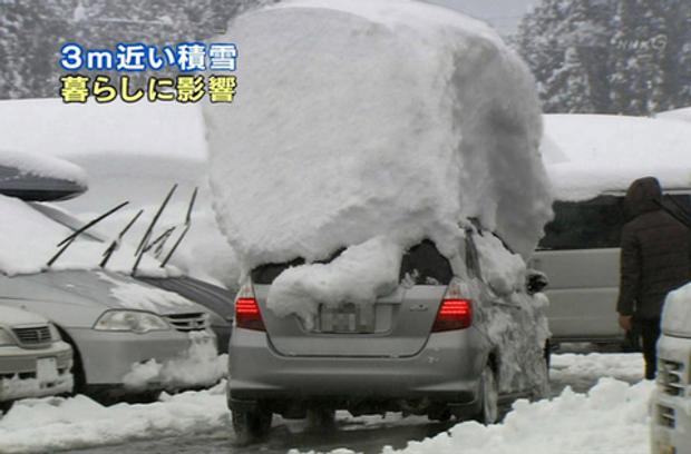 Понад 4 метри снігу випало у Японії