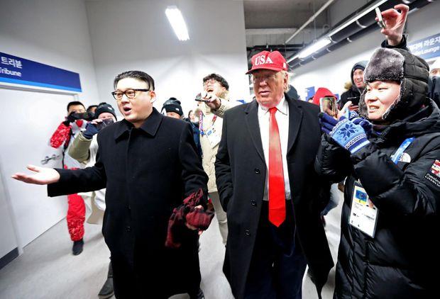 Двійників Кім Чен Ина та Дональда Трампа помітили на Олімпіаді-2018