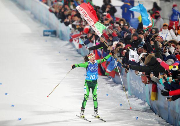 Олімпіада-2018 біатлон жіноча естафета Домрачева Білорусь