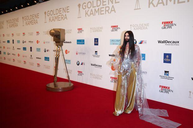 Кончіта Вурст на  церемонії нагородження Golden Camera Awards-2018