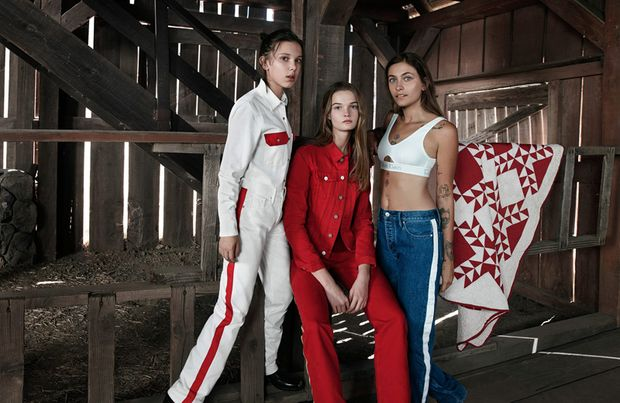 Періс Джексон, Лулу Тенні та Міллі Боббі Браун для Calvin Klein