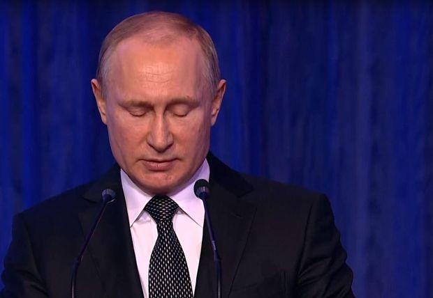 23 лютого хворий Володимир Путін виголосив промову