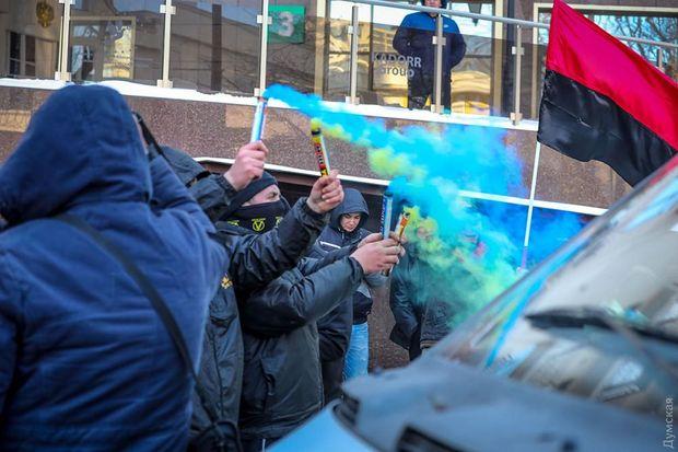 Протести біля консульства Росії в Одесі