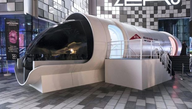 Капсула Hyperloop зсередини