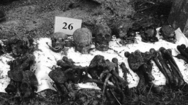 Ексгумовані рештки жертв Корюківської трагедії