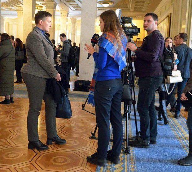 Надія Савченко у ВР