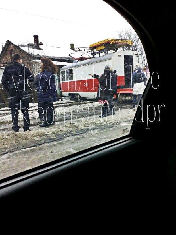 Трамвай аварія Донецьк
