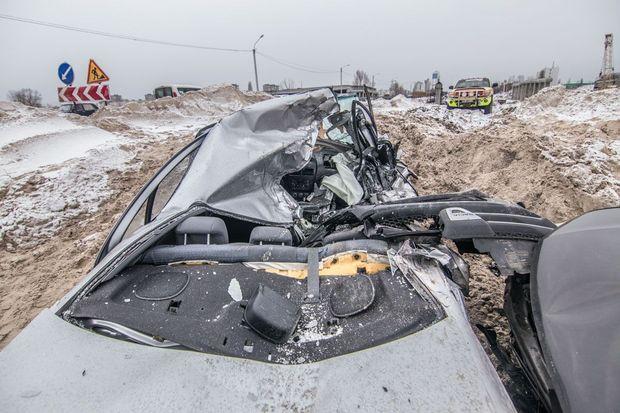 ДТП, Київ, котлован, іноземці, аварія