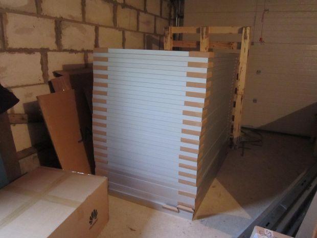 Сонячні панелі ще запаковані
