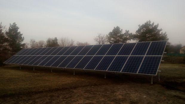 Сонячна електростанція на городі
