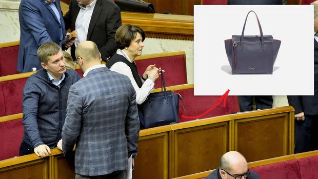 Южаніна, Рада, сумочка, Salvatore Ferragamo, ВР