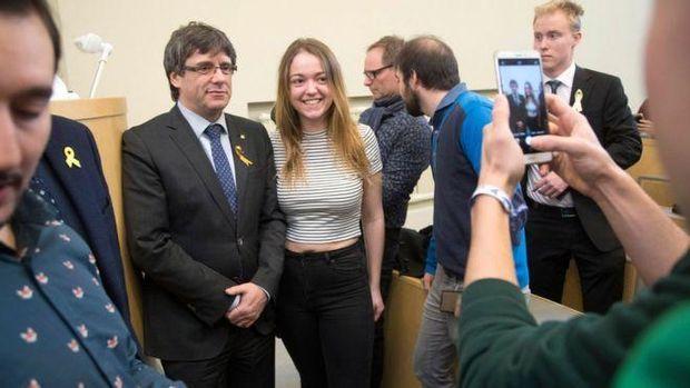 Пучдемон зустрівся зі студентами університету в Гельсінкі