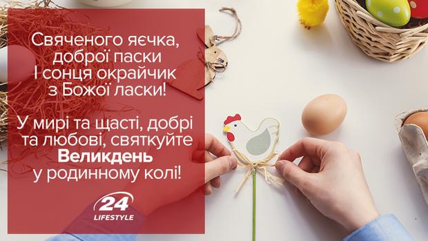 Великодні листівки українською мовою з привітаннями