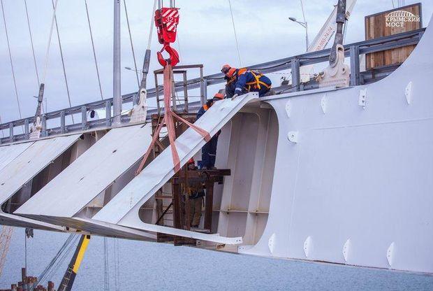 Фото з будівництва Керченського мосту