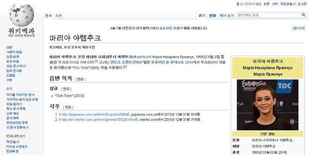 Яремчук, вікіпедія, рейтинг, популярність, мови, корейська