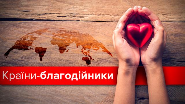 Украина обогнала Россию, Польшу и Беларусь в рейтинге благотворительности: инфографика