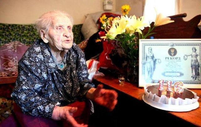 Украинка претендует на звание старейшего жителя планеты