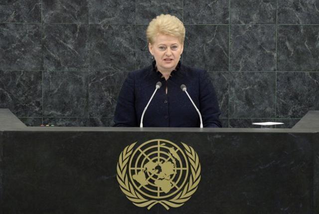 Россия применяет в Украине методы шантажа, угроз и агрессии, – Грибаускайте