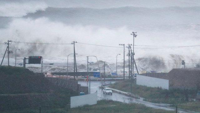 Корабль с российским экипажем выбросило на берег из-за мощного тайфуна «Лан» в Японии