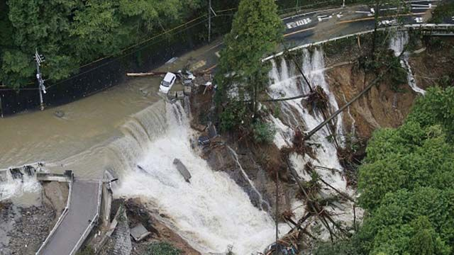 Разрушительный тайфун «Лан» обрушился на Японию