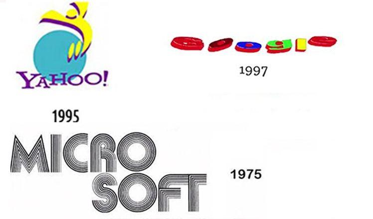 Гиганты не раз переделывали логотип